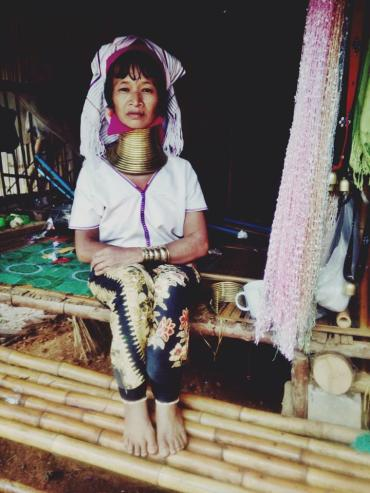 woman from the Karen Long Neck Tribe