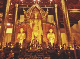 Inside of a Temple in Thailand