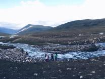 river in Tavagn Bogd National Park, Mongolia
