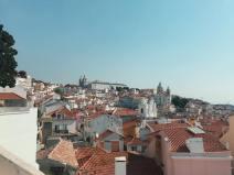 Orange rooftops in Lisbon, Portugal