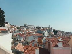 Orange rooftops in Lisbon, Portugal
