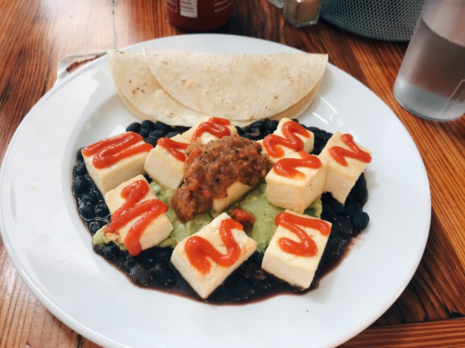 vegan Mexican breakfast plate